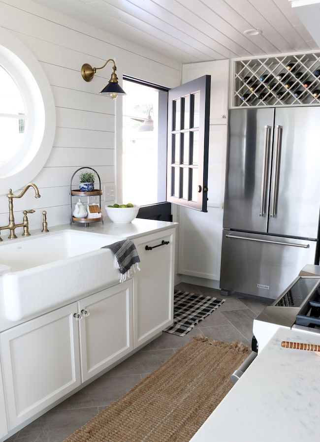 Shiplap Kitchen Planked Walls Behind Sink Amp Stove Dream