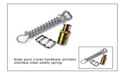 Brasspoolcoveranchors Stainlesssteelpoolcover Springspoolhardware Stainless Steel Installation Rod Vinyl Plastic Spr Stainless Steel Pool Cover Stainless