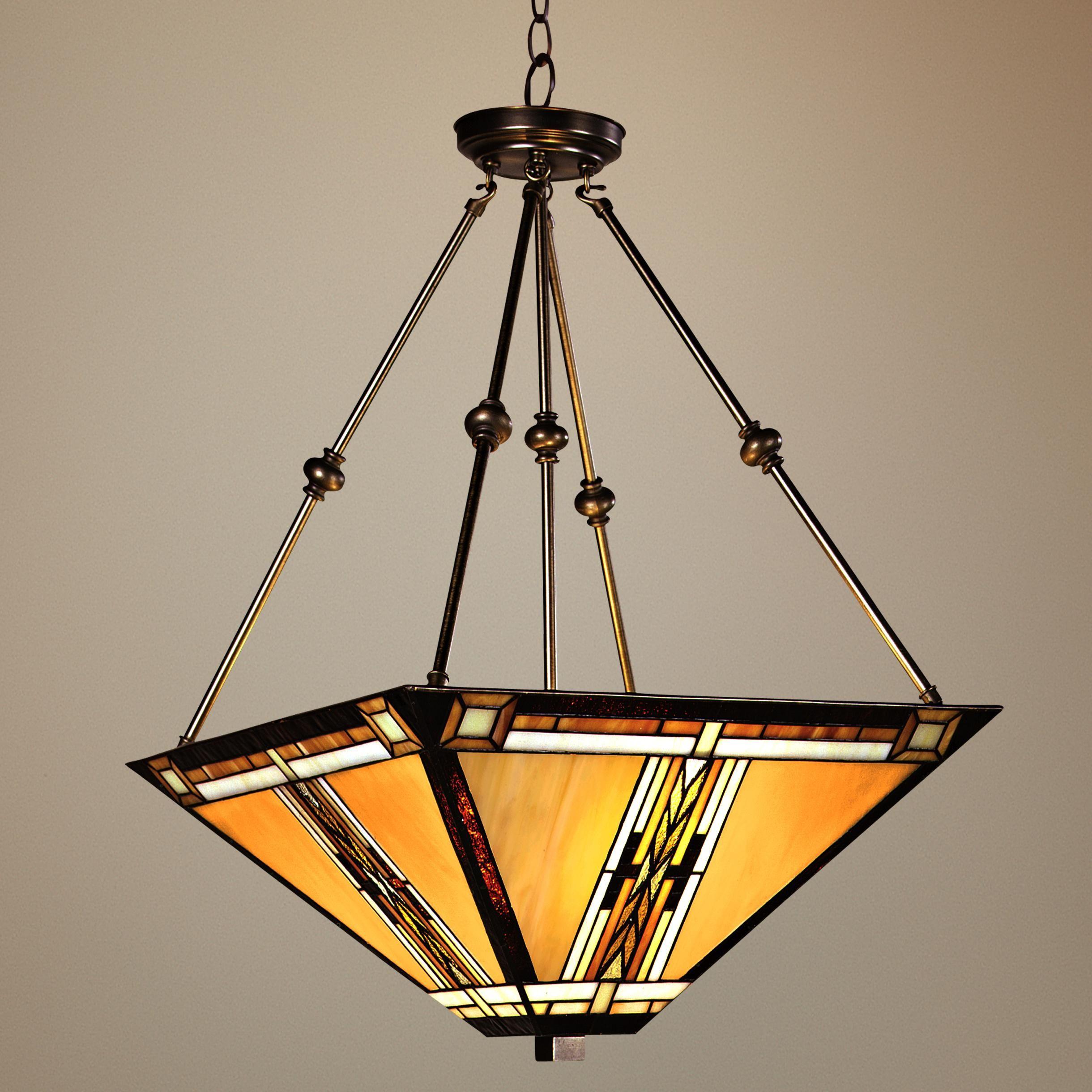 Walnut Mission Style Pendant Chandelier 43240 Lamps Plus