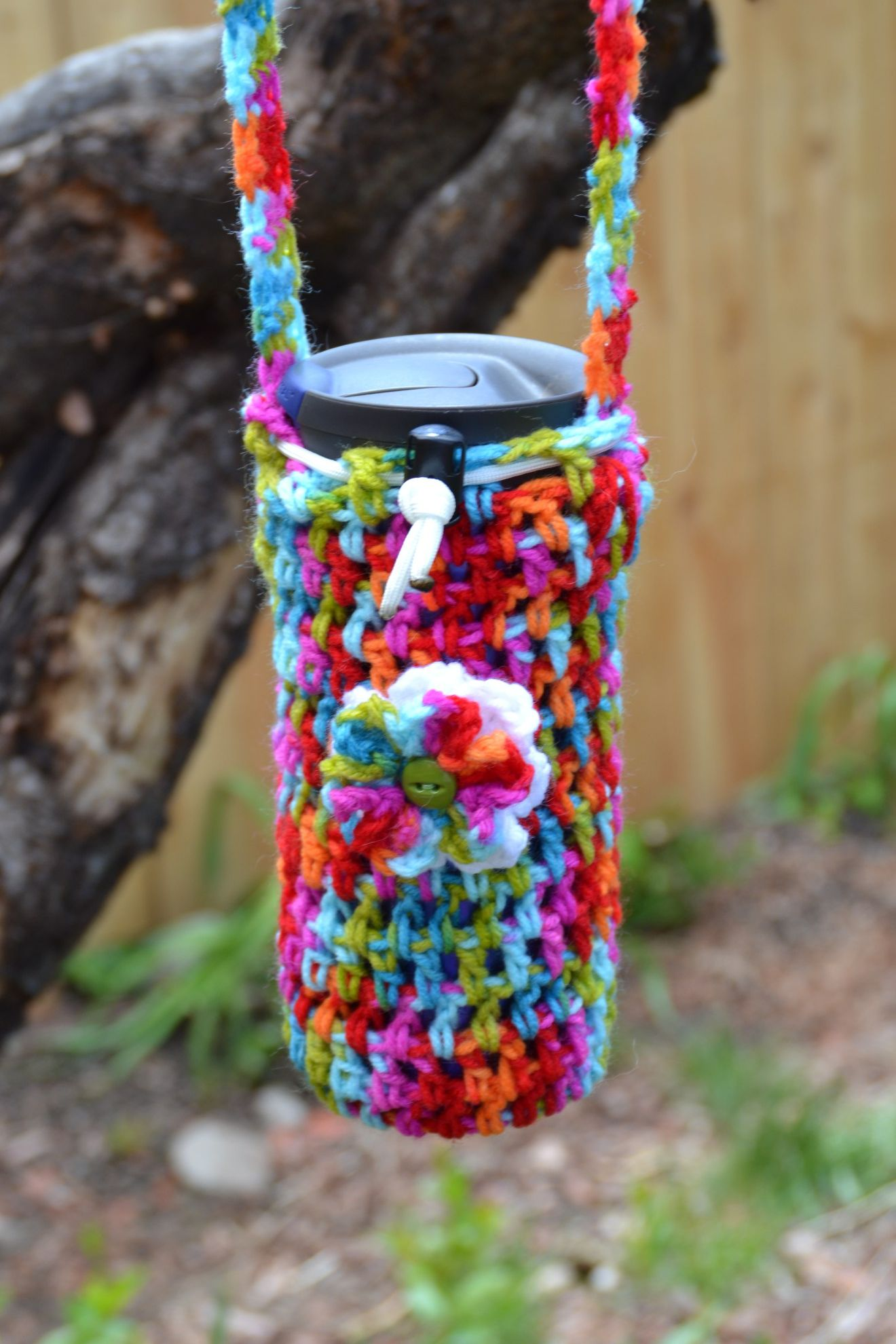 Easy crochet water bottle holder great for crochet beginners easy crochet water bottle holder great for crochet beginners free pattern bankloansurffo Choice Image