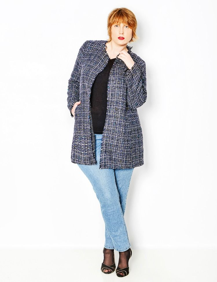 Großen Größen Size Modischer Fashion Plus In Mantel Damenmantel CqfZF5x