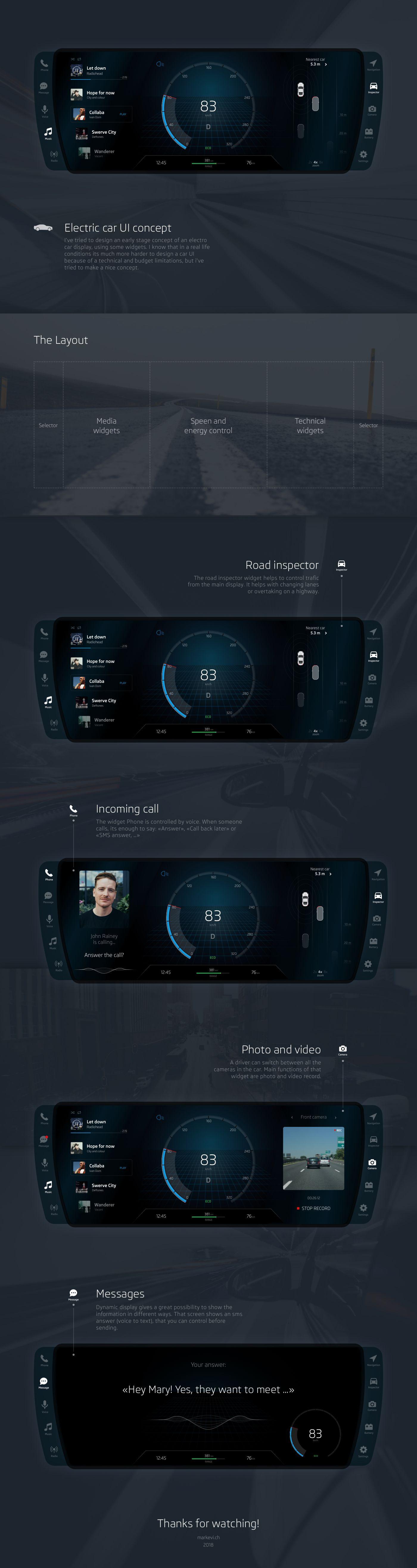Electric Car UI concept #carui #automotive #autoui #carconcept #carfuture #automotiveui