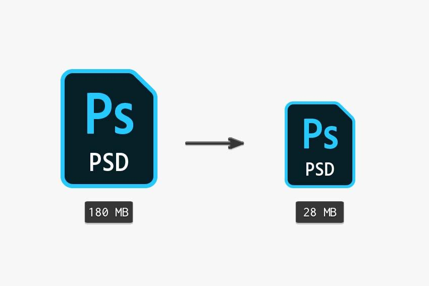 How to make an image file size smaller in photoshop
