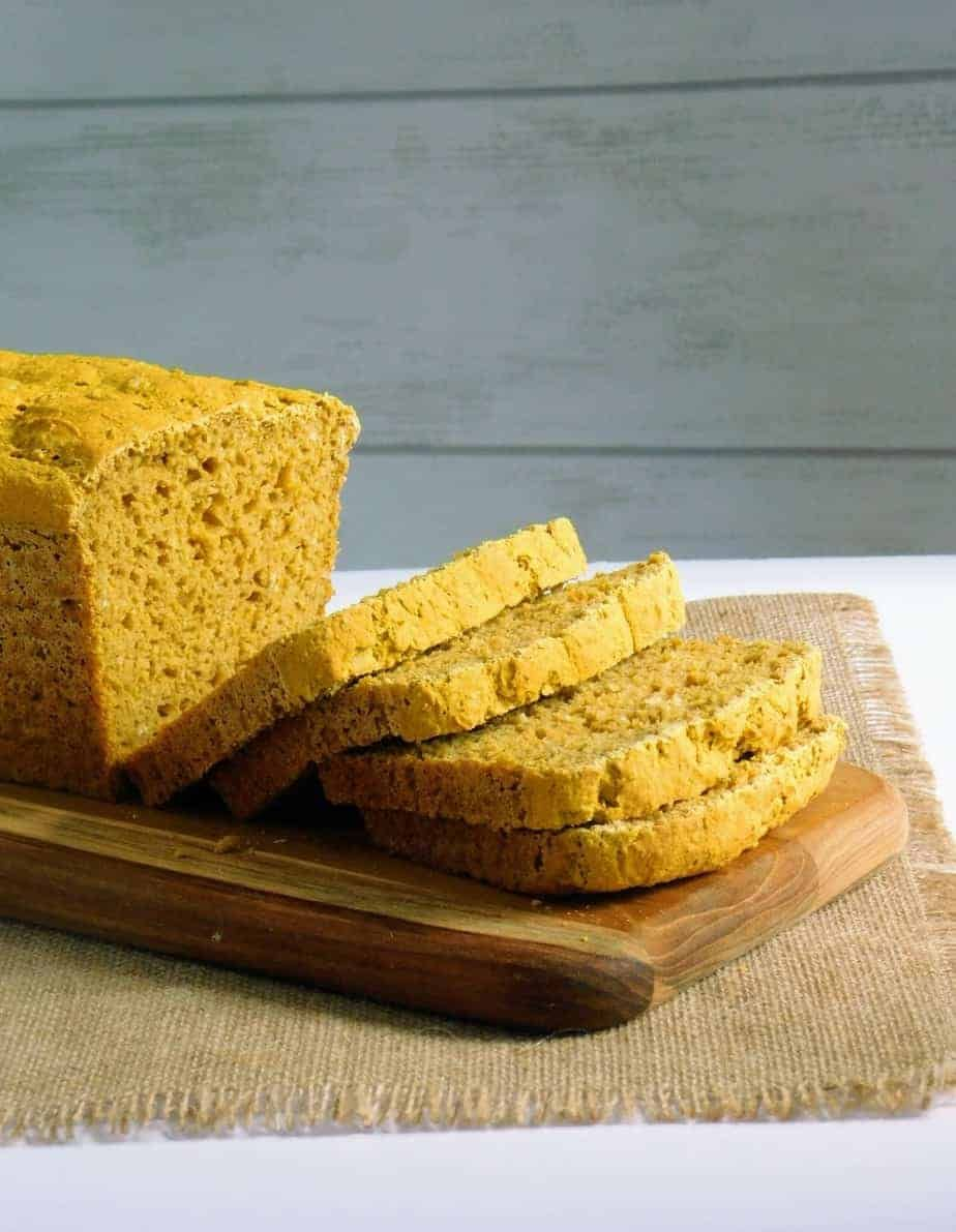Gluten Free Pumpkin Yeast Bread Dairy Free Option