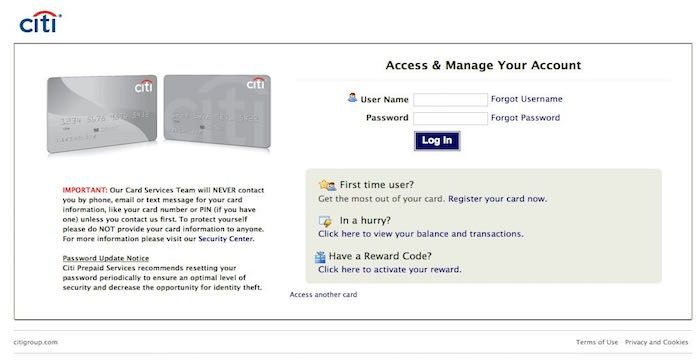 Citibank Prepaid Login >> Citi Prepaid Sign In Sign Ins Signs Card Balance Cards