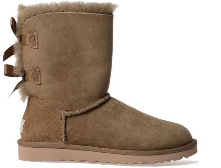 Ugg Boots With Soft Sheepskin Shearling Lining And Bows At The Back