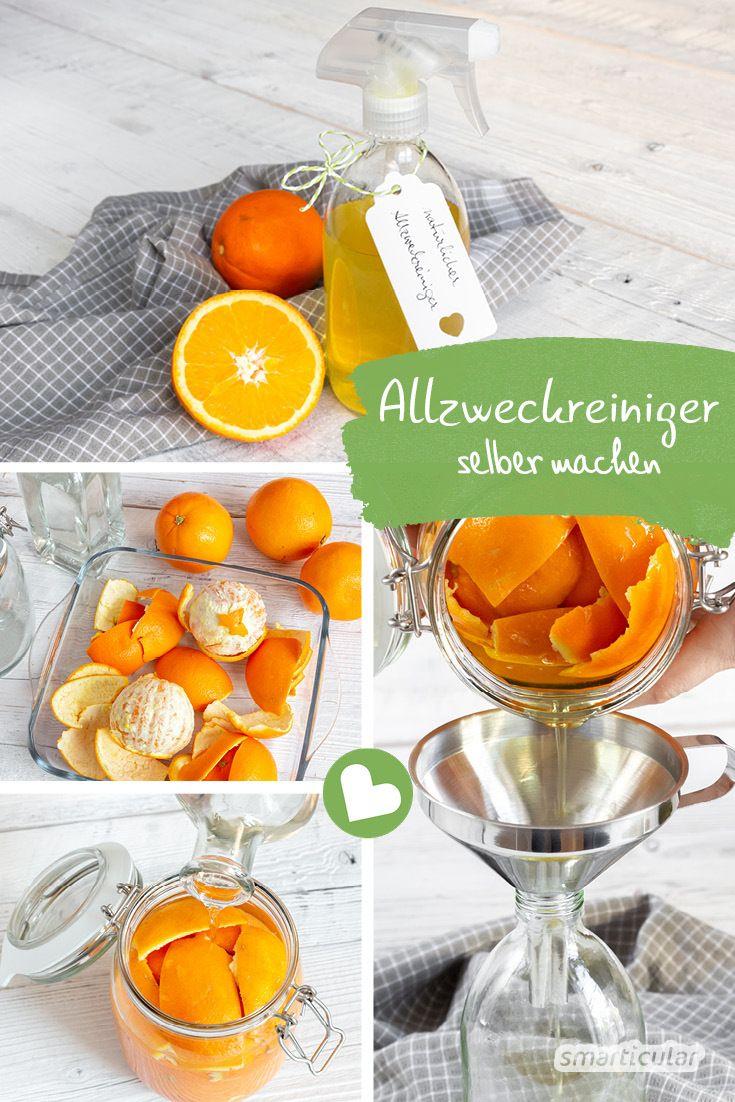 Dieser Naturliche Allzweckreiniger Kostet Weniger Als 40 Cent Pro Liter In 2020 Essigreiniger Putzmittel Selbstgemacht Orangen Reiniger