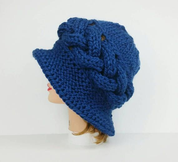 Cloche Hat Knitting Pattern Cable Knit Flapper Hat Pattern