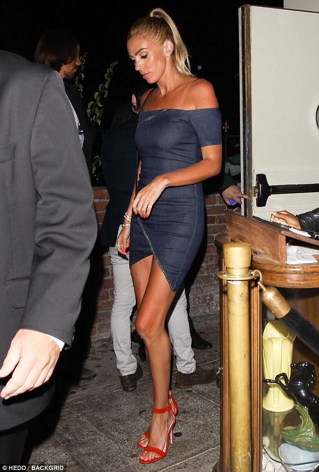 be54d8c432e8a Sombre  Petra Ecclestone put her marital woes aside for an evening as she  enjoyed a girls night out in West Hollywood on Friday