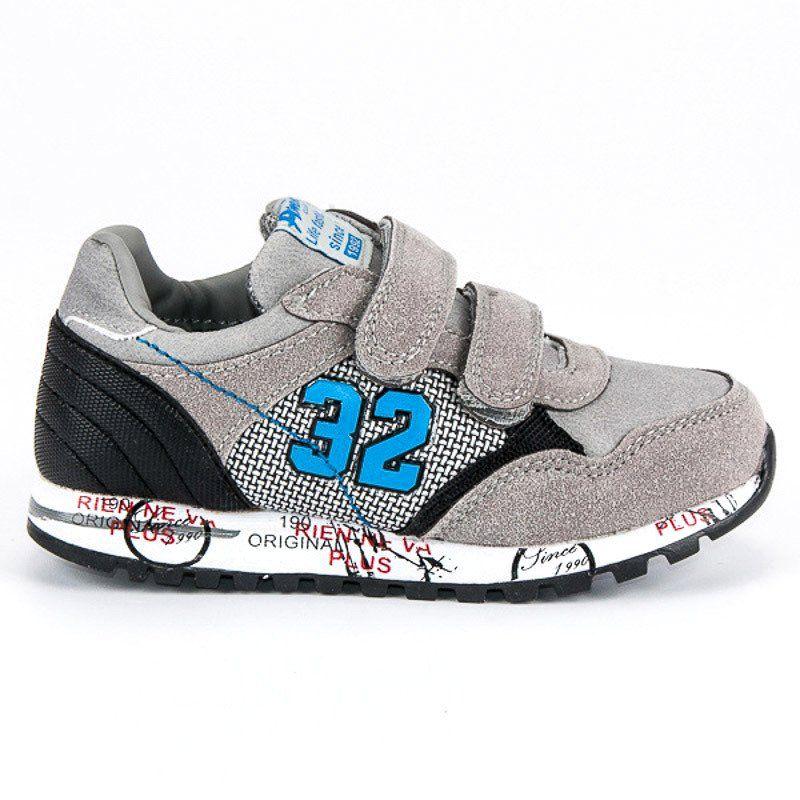 Buty Sportowe Dzieciece Dla Dzieci Americanclub Szare Buty Sportowe American American Club Sneakers Shoes Dc Sneaker