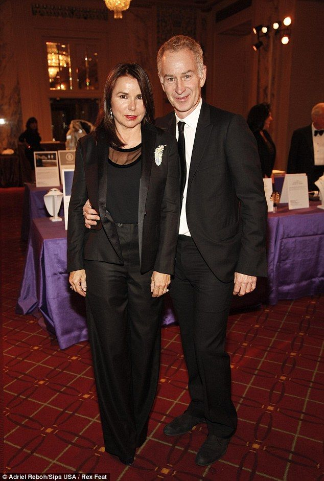 John Mcenroe with mysterious, Wife Patty Smyth