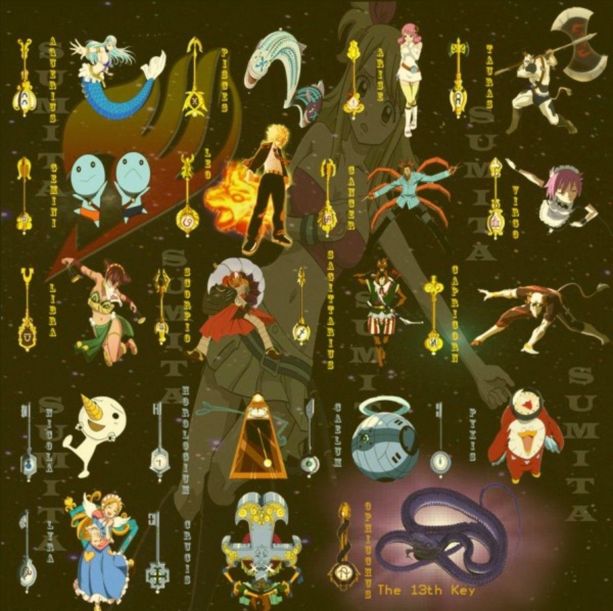 The 13 Golden Keys Fairy Tail Photos Fairy Tail Keys Fairy Tail Anime