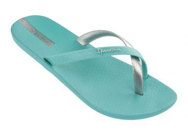 28e12eb3818 Ipanema Mix Turquoise Silver Womens Flip Flops