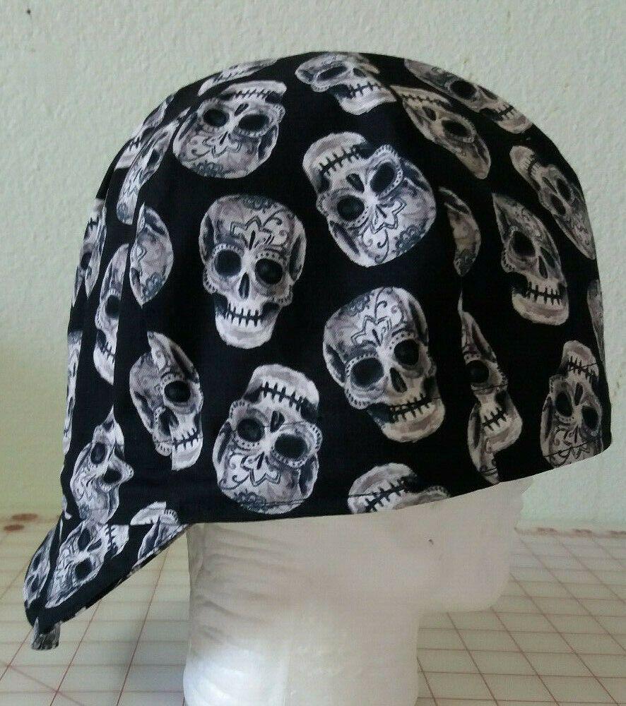 Welders welding biker pipe fitter hat cap Sugar Skulls
