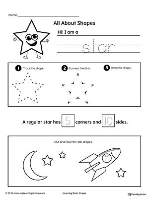 All About Star Shapes With Images Shapes Preschool Shapes