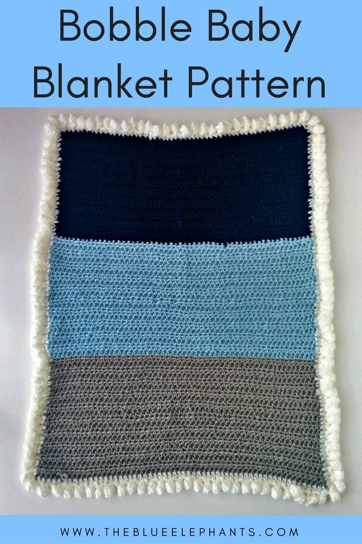 Free Crochet Pattern: Bobble Baby Blanket