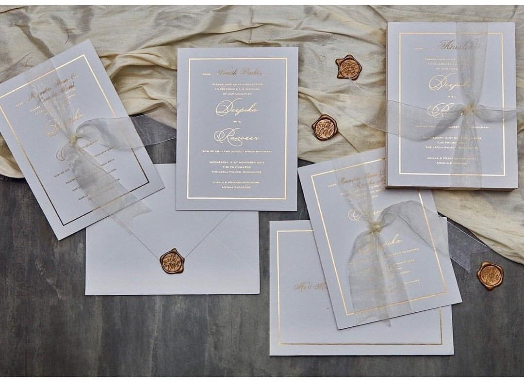 DeepVeer wedding cards | Wedding cards, Invitations, Wedding