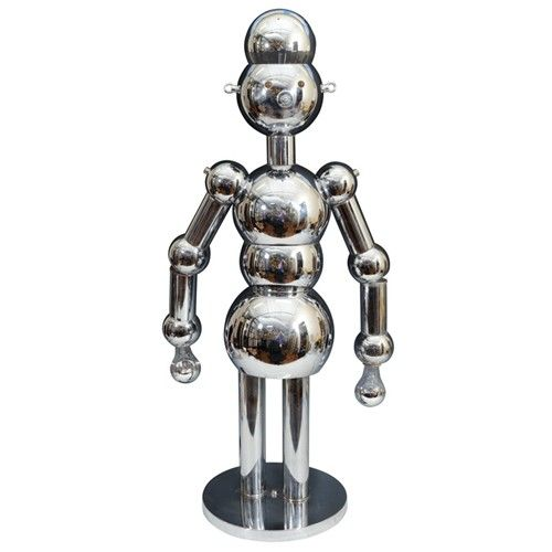 Mid Century Chrome Robot Lamp By Torino Designs Nyshowplace Com Robot Lamp Lamp Chrome