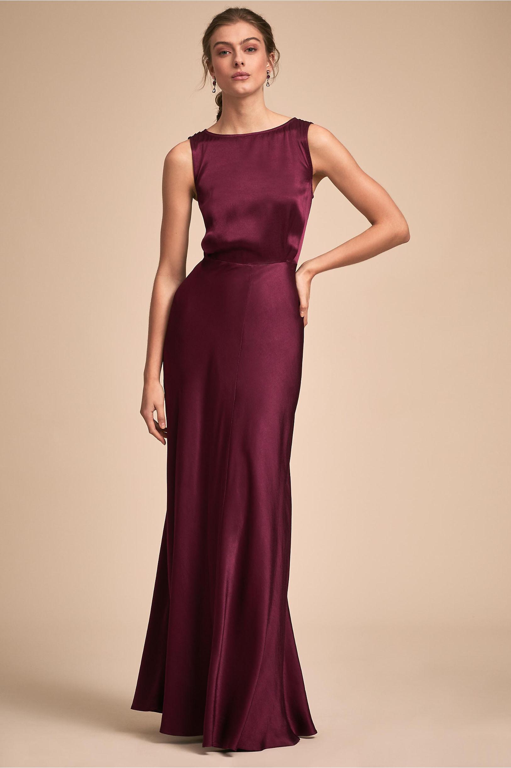 80d4fab282 BHLDN s Ghost London Alexia Dress in Black Cherry