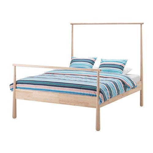 Gjora Bedframe Berken 140x200 Cm Ikea Ikea Wooden Bed Ikea Bed Bed Frame