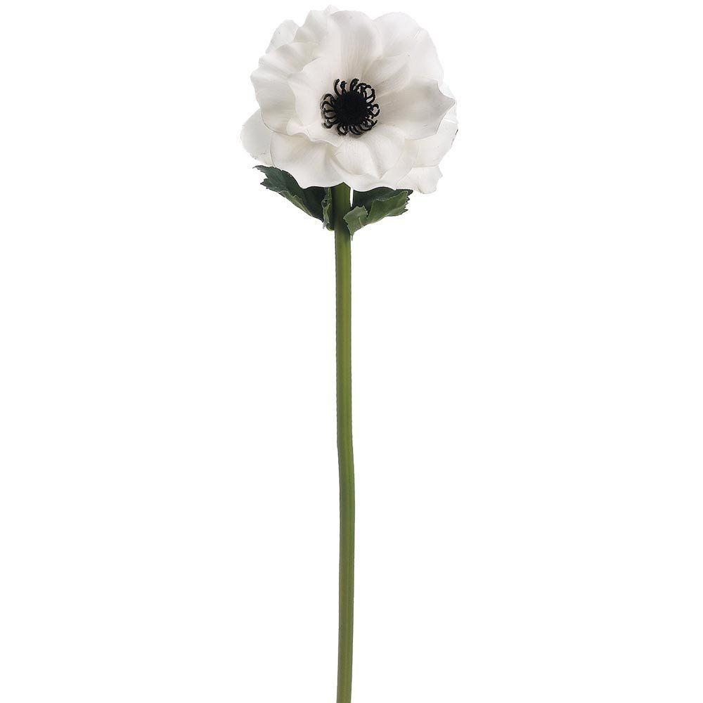 Real Touch Anemone Stem In White With Black Center I Like 2017