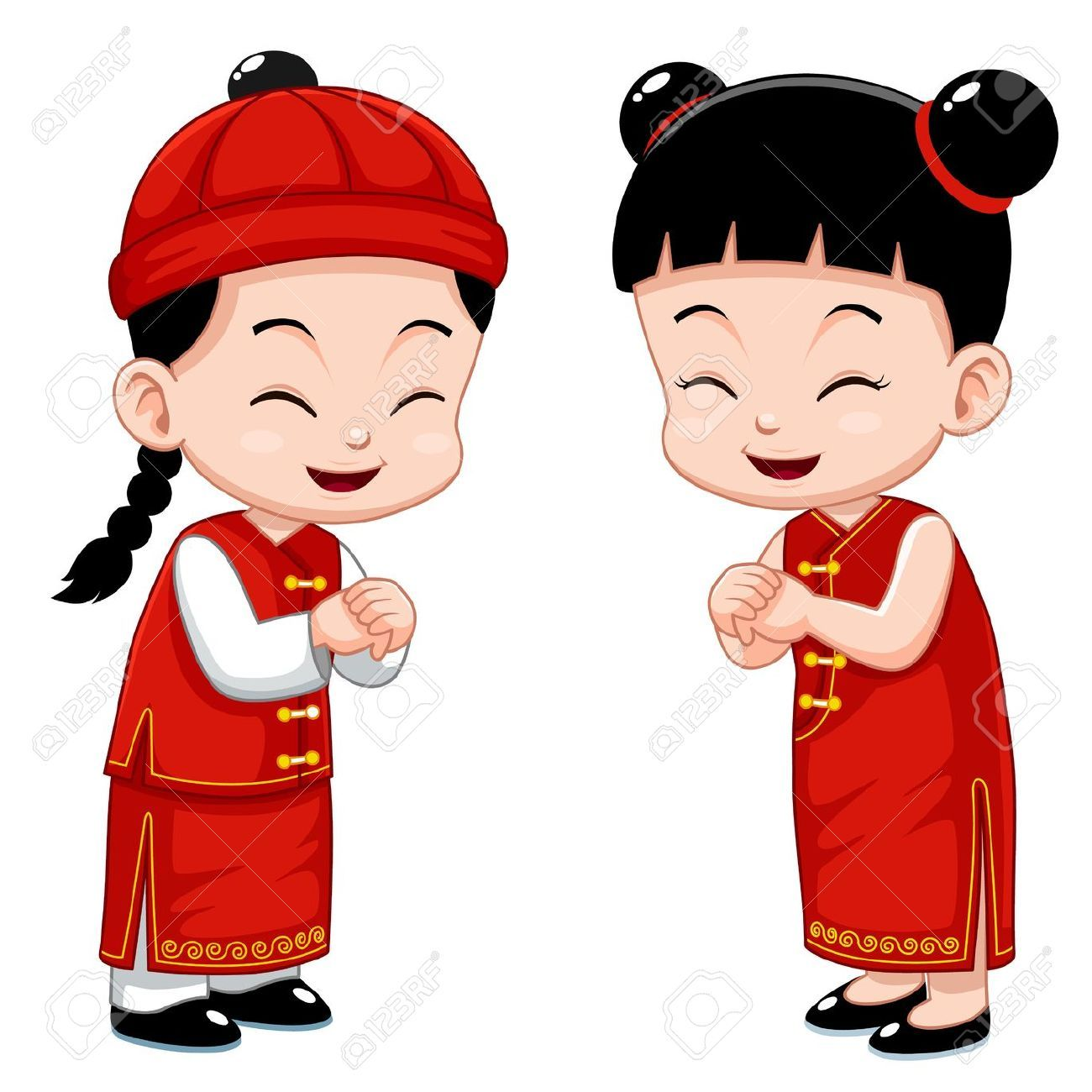 chinese children chinese kids illustration nhan vat hoat hinh rh pinterest com chinese clipart black and white chinese clipart girl