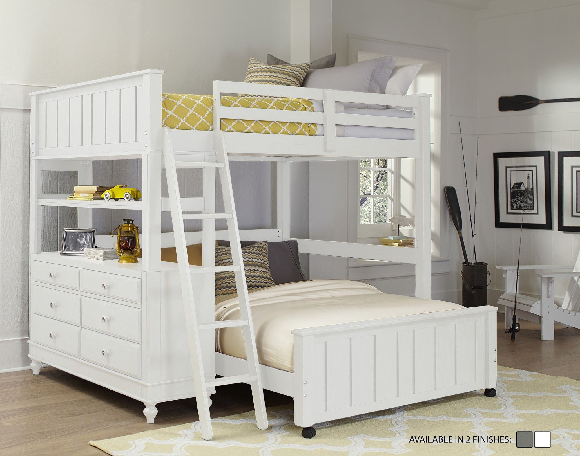 Lake House Loft with Full Size Lower Bed | Wayfair