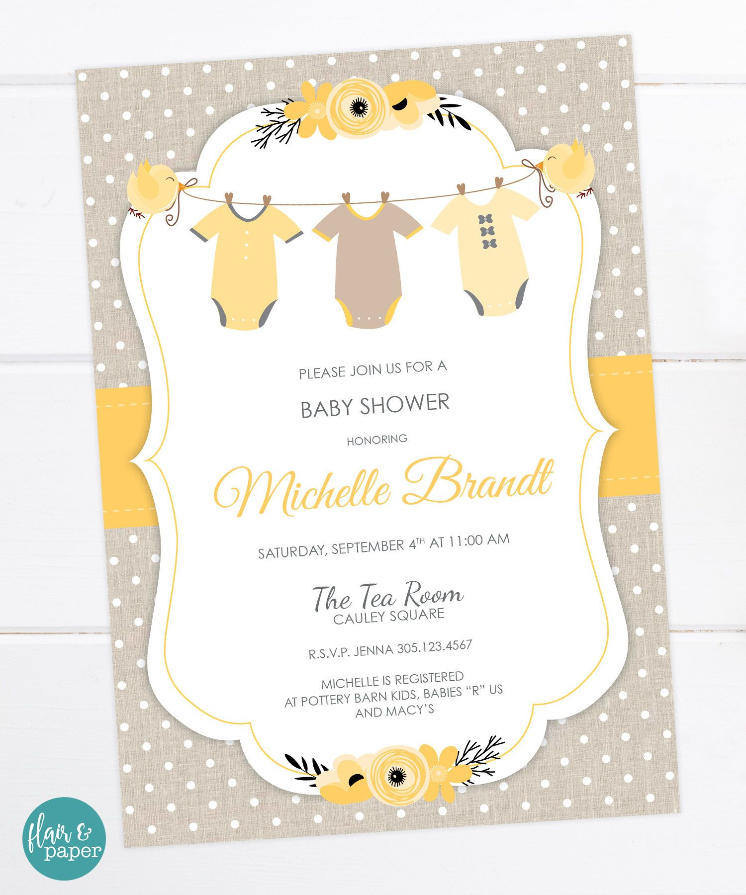 graphic about Printable Onesie Baby Shower Invitations named Onesie Kid Shower Invitation Child Shower Gender impartial