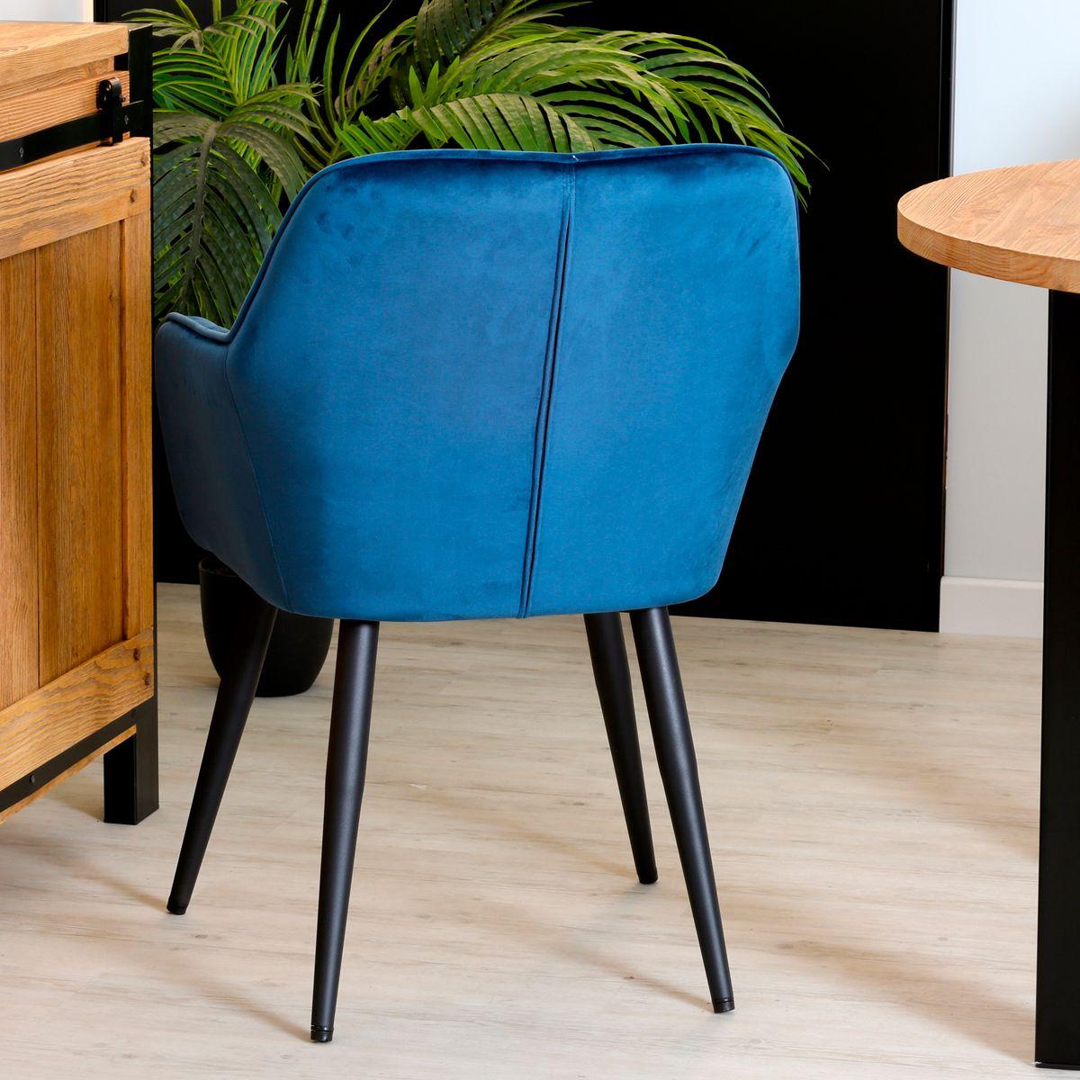 fauteuil velours bleu malmoe fauteuil
