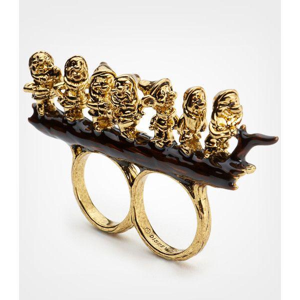 Disney Couture Seven Dwarves Double Finger Ring