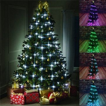 How To String Lights On A Christmas Tree Adorable 64 Led Lights Christmas Tree String Lights Flashing Lights Outdoor Inspiration