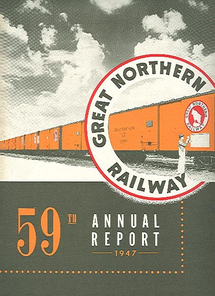 Great Northern Railway annual report, 1947 | Design & Print ...