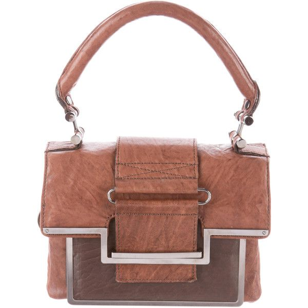 Pre-owned Lanvin Leather Shoulder Bag (11,640 INR) ❤ liked on Polyvore featuring bags, handbags, shoulder bags, genuine leather handbags, hand bags, man shoulder bag, brown leather purse and handbags purses