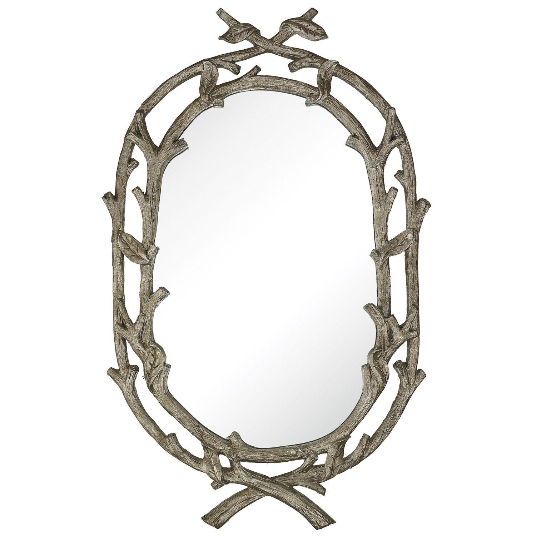 Silver Leaf Wrapped Branch Mirror - Final Sale