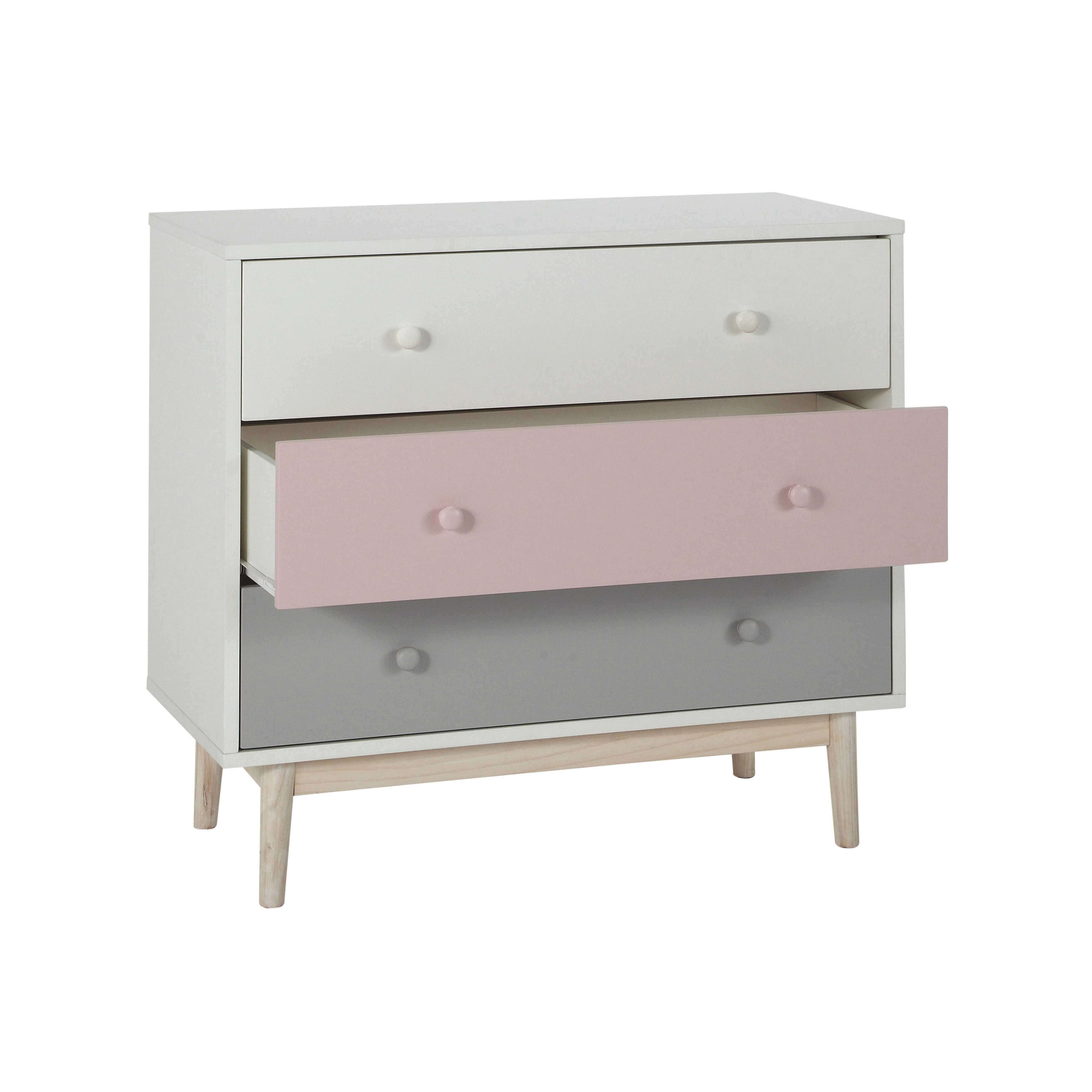 commode vintage blanche et rose blush maison commode enfant et bois blanc. Black Bedroom Furniture Sets. Home Design Ideas