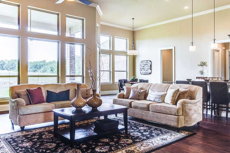 Attractive Large Family Room Design Part - 13: Living Room Staging, Large Family Room Staging, Two Sofas In A Family Room,