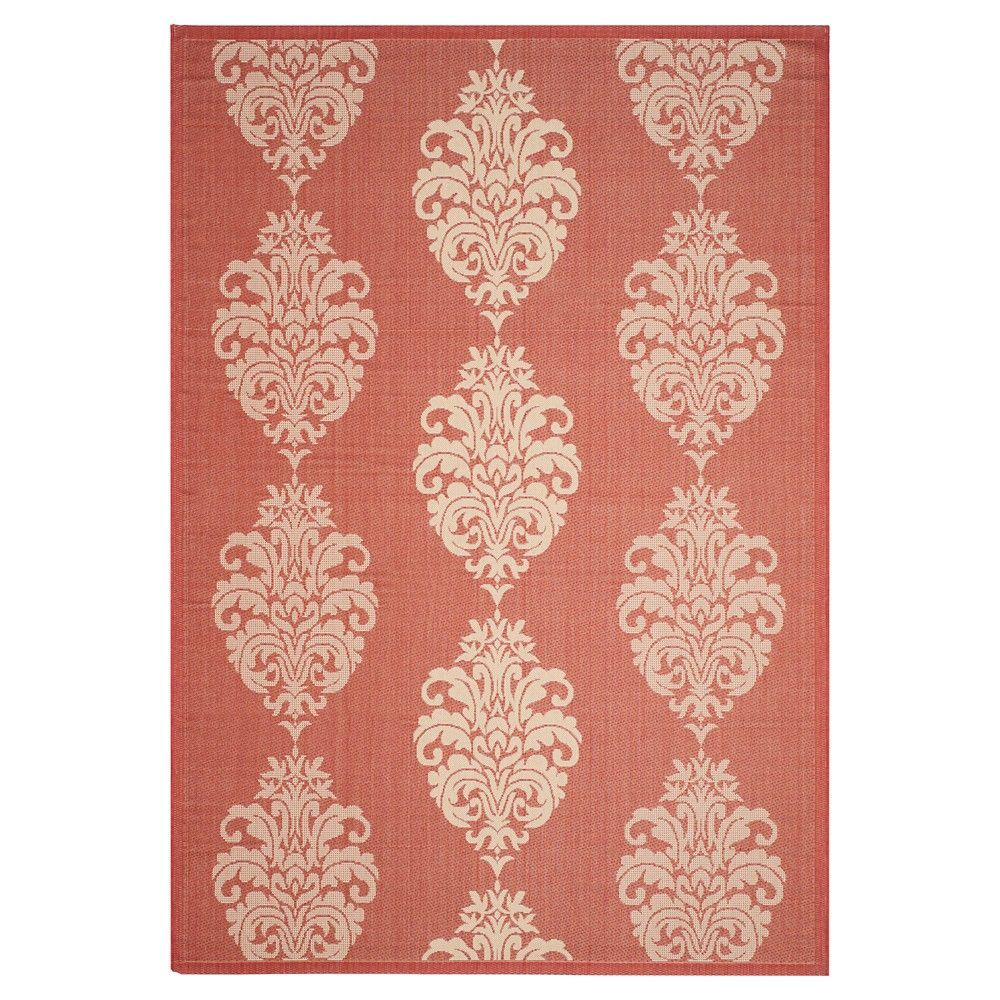 Orly Rectangular 9 X 12 Outdoor Rug Red Natural Safavieh