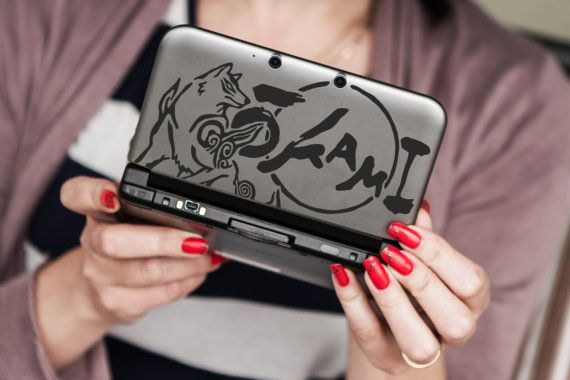 Okami inspired 3ds or 3ds XL decal by DesignDepo on Etsy
