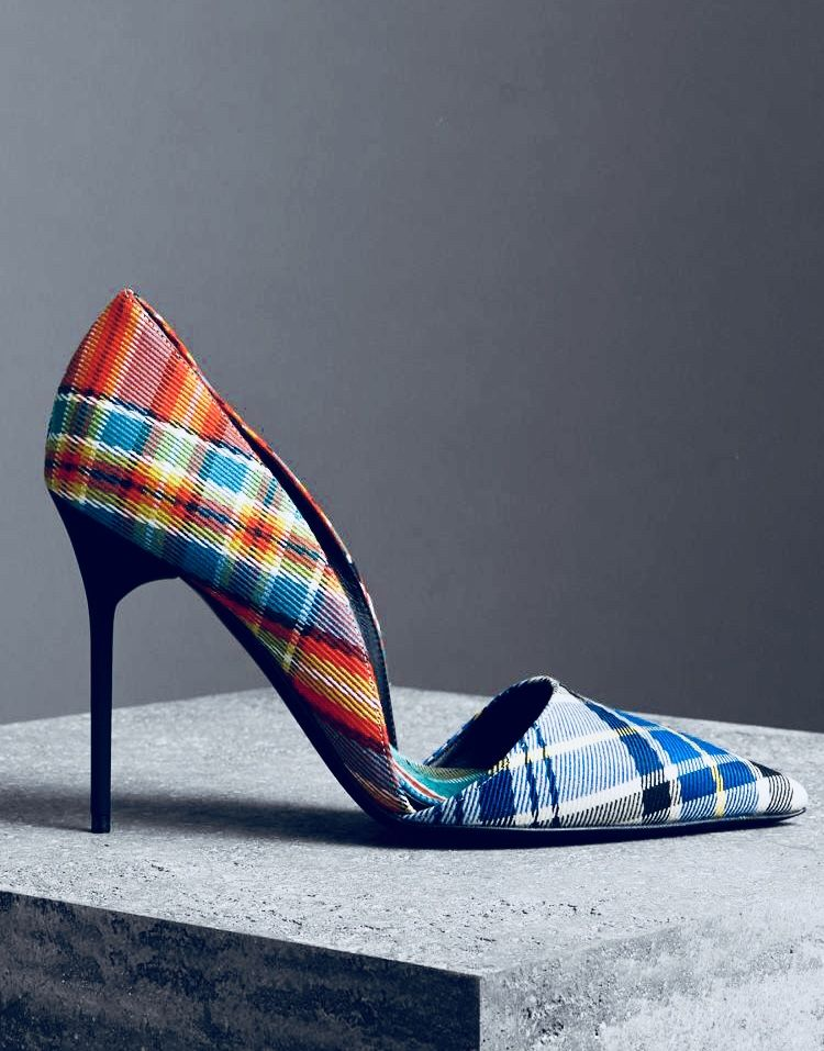 classic style popular stores new authentic Burberry cotton tartan pump | Shoes in 2019 | Heels, Shoe ...
