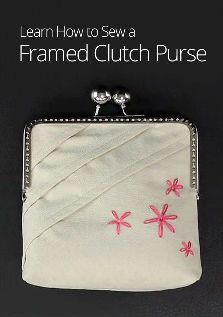 how to make a clutch bag with metal frame