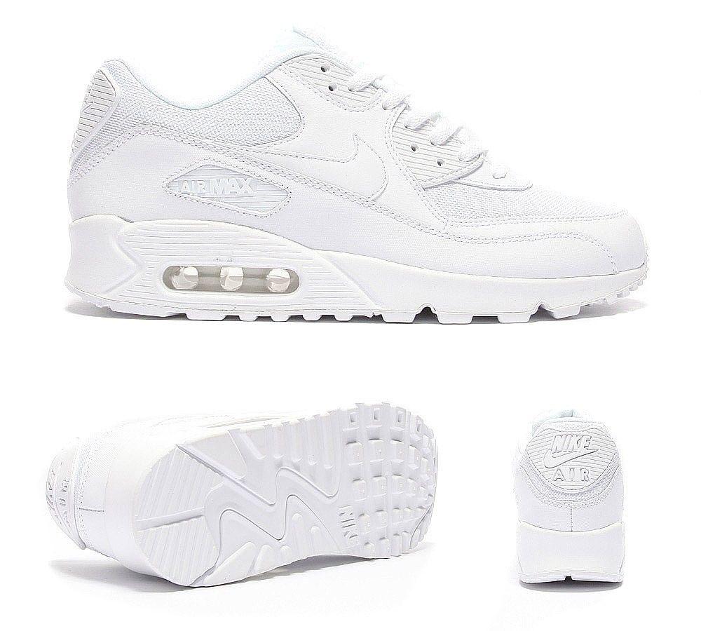 Nike Air Max 90 Formateurs Blancs Premium