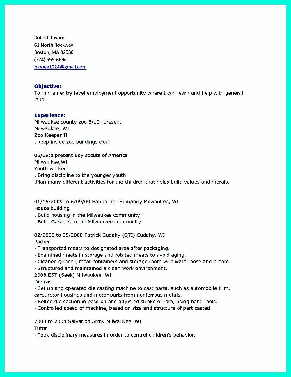 Laborer Resume Construction Laborer Resume Is Designed For Those Who Will Work On