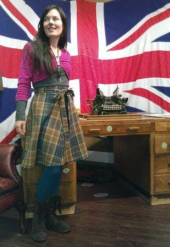 Nicola's tartan Miette skirt