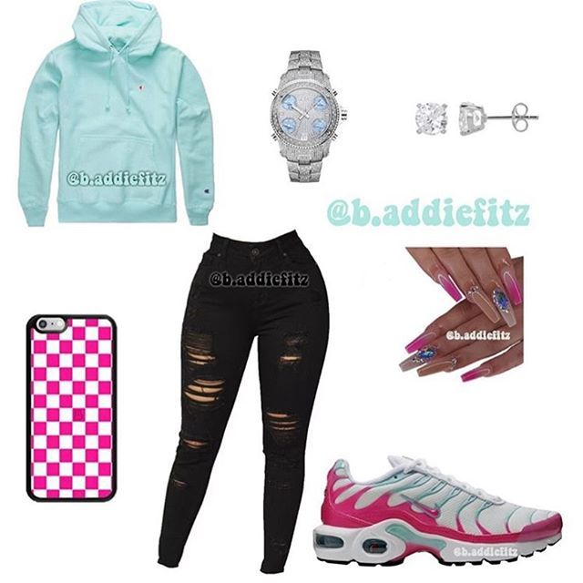 School outfits for teen girls in fall with sneaker - Cocomew is to share cute outfits and sweet funny things #baddieoutfitsforschool