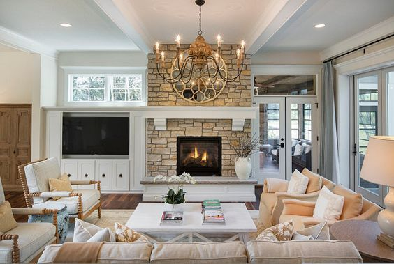 Tv To The Side Of The Fireplace Instead Of Above It For Symmetry I D Want The Glass Living Room Furniture Layout Fireplace Furniture Layout Livingroom Layout