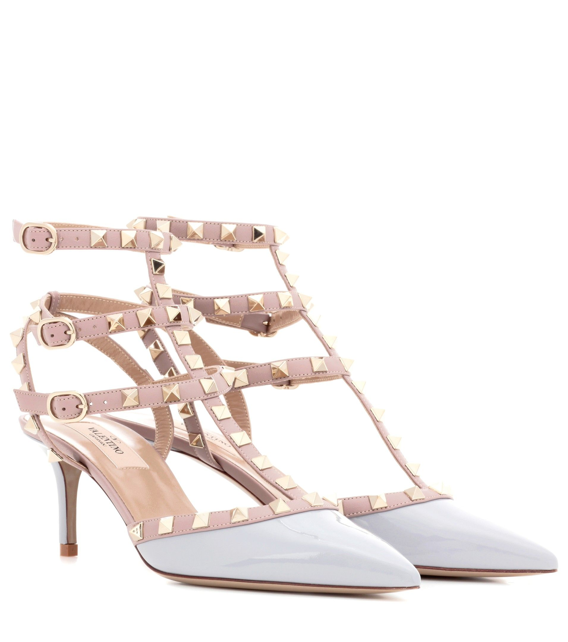 Valentino - Rockstud patent leather sandals - This Italian-made pair comes  with a glossy