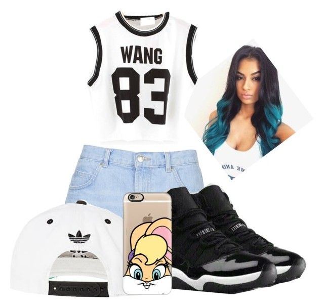 """""""Untitled #1135"""" by penny44224 ❤ liked on Polyvore featuring Topshop, NIKE, adidas and Casetify"""