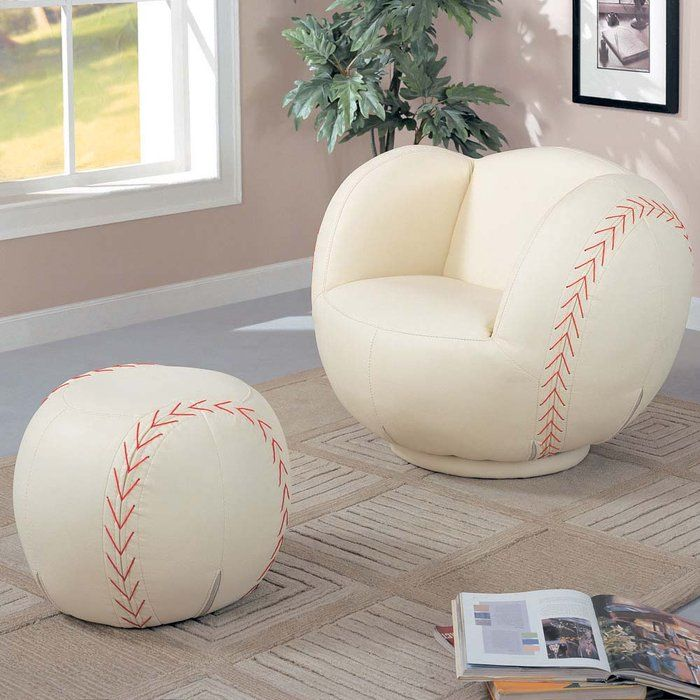 Kids Sports Chair Collection Chair and Ottoman