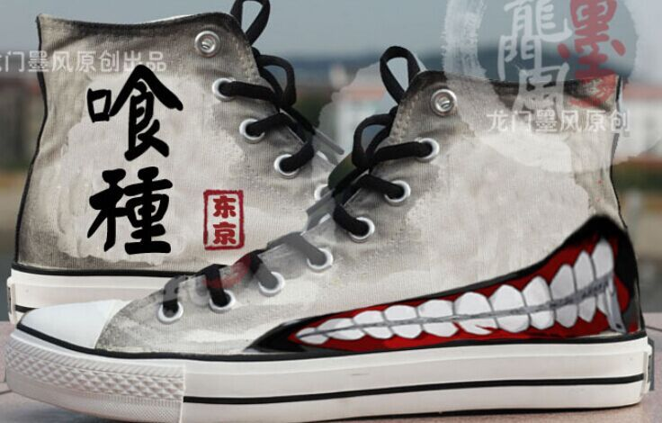 5b4311170a8e Tokyo Ghoul Canvas Painted Shoes Custom Converse Shoes