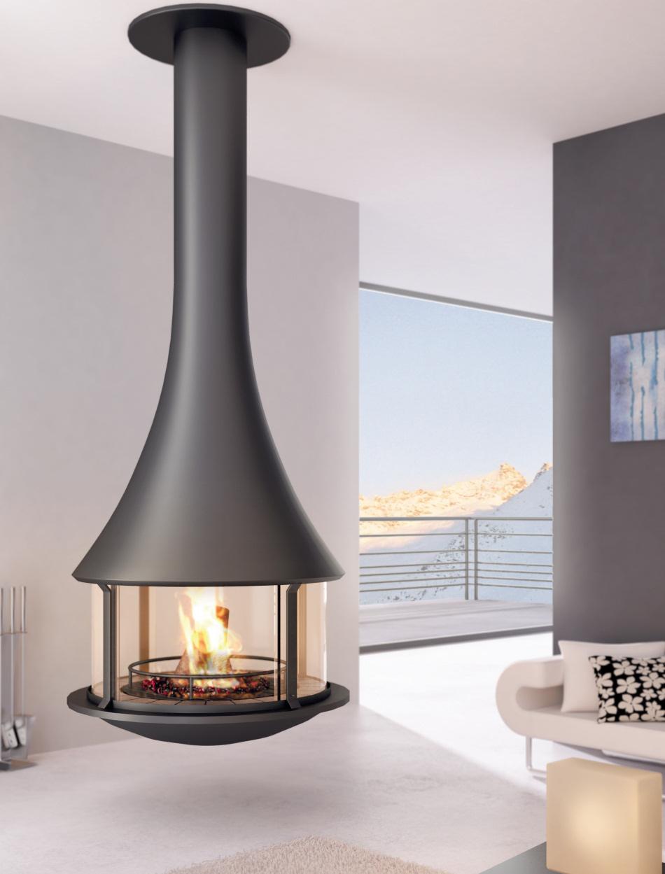 Risultati immagini per cheminée centrale housing ideas pinterest